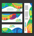 Colorful abstract template design brochure poster vector image