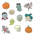 Colorful Halloween Characters Set vector image vector image