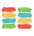 colorful watercolor brush strokes paint on the vector image