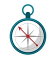 compass location element camping vector image