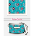 Cosmetic Bag Doodle Flowers vector image