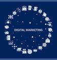 creative digital marketing icon background vector image