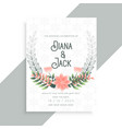 decorative flower floral wedding card template vector image