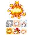 different designs of explosion clouds vector image vector image