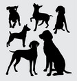 dog animal silhouette vector image vector image