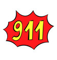 emergency 911 icon icon cartoon vector image