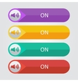 flat buttons sound on vector image vector image