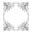 Frame with hand-drawing decorative ornaments vector image vector image