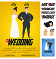 Funny glossy movie poster wedding invitation vector image vector image