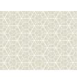geometry line hexagonal seamless pattern vector image vector image