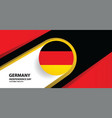 germany independence day background vector image vector image