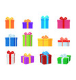 gift box colorful present boxes with bright vector image vector image