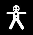gingerbread man icon design vector image