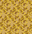 Golden labyrinth background vector image vector image