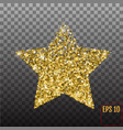 golden star from stars shiny golden star icon on vector image