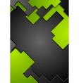 Green black contrast technology background vector image vector image