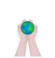 green earth concept design world globe vector image