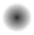 halftone circle symbol icon design vector image vector image