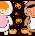 halloween and kids vector image