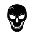halloween scary fanged skull vector image vector image