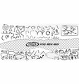 hand drawn doodle arrows brush torn paper vector image