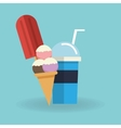 Ice cream and milkshake design vector image vector image