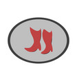 icon in flat design fashion footwear women boots vector image vector image