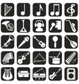 Icons musical vector image