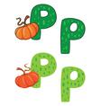 letter P pumpkin vector image vector image