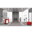 lobby interior realistic design vector image vector image