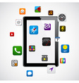 Modern tablet with apps vector image