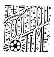 monochrome hand-drawn lettering about football vector image vector image