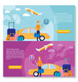 online travel service background promotional vector image