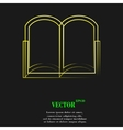 Open book icon symbol Flat modern web design with vector image vector image
