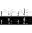 panoramic high voltage vector image vector image