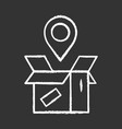 parcel tracking chalk icon package location vector image vector image