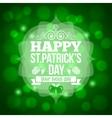 patrick day beer mug background vector image vector image