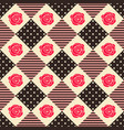 pattern rose geometry vector image vector image