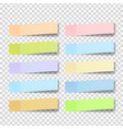 post note sticker color sticky notes vector image vector image