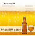 realistic craft beer background vector image vector image