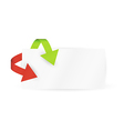 red and green arrows and paper vector image