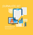 reporter flat collection vector image vector image