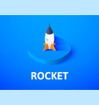 rocket isometric icon isolated on color vector image vector image
