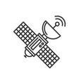 satellite icon on white background line style vector image