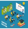 School Education Isometric Concept vector image vector image