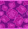 seamless floral mosaic pattern with violet roses vector image vector image