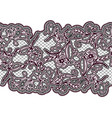 seamless lace ribbon black and purple floral vector image vector image