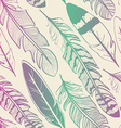 Seamless pattern of bird feathers vector image