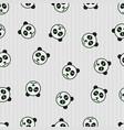 seamless pattern panda sleeping animal vector image vector image