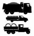 set transport silhouettes vector image vector image